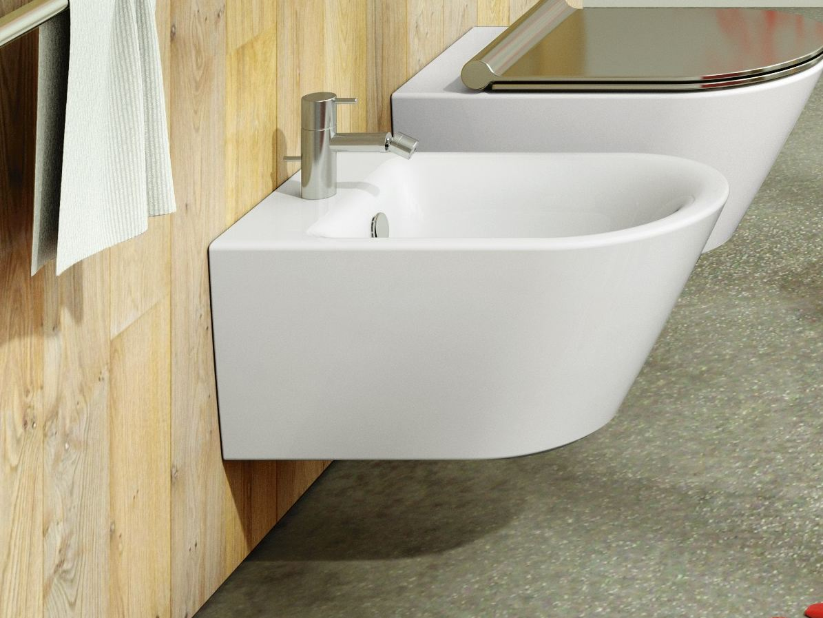 Bidet sospeso in ceramica soft 55 by ceramica catalano for Ceramica catalano