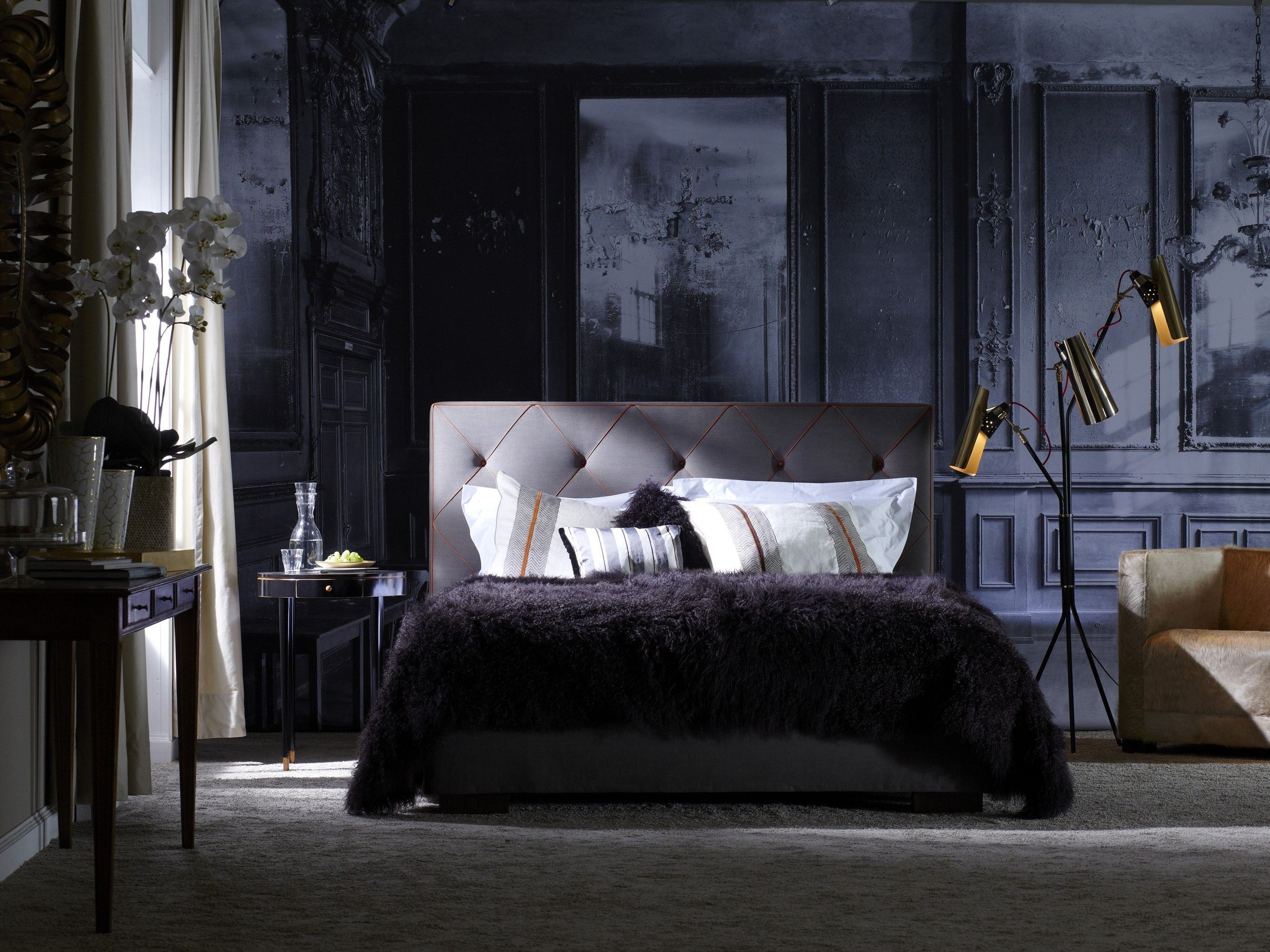 gepolstertes doppelbett aus stoff gala 18 s opal plus by. Black Bedroom Furniture Sets. Home Design Ideas