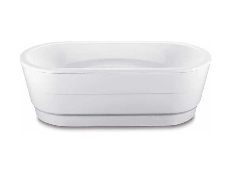 Vasca da bagno centro stanza ovale in acciaio smaltato VAIO DUO OVAL CON RIVESTIMENTO by ...