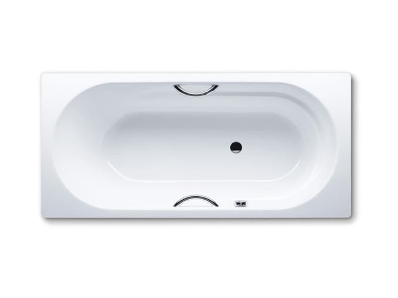 Vasca da bagno rettangolare in acciaio smaltato da incasso vaio star by kaldewei italia design - Vasche da bagno in acciaio smaltato ...