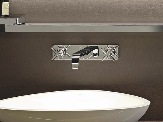 axor citterio e washbasin tap with plate by hansgrohe. Black Bedroom Furniture Sets. Home Design Ideas