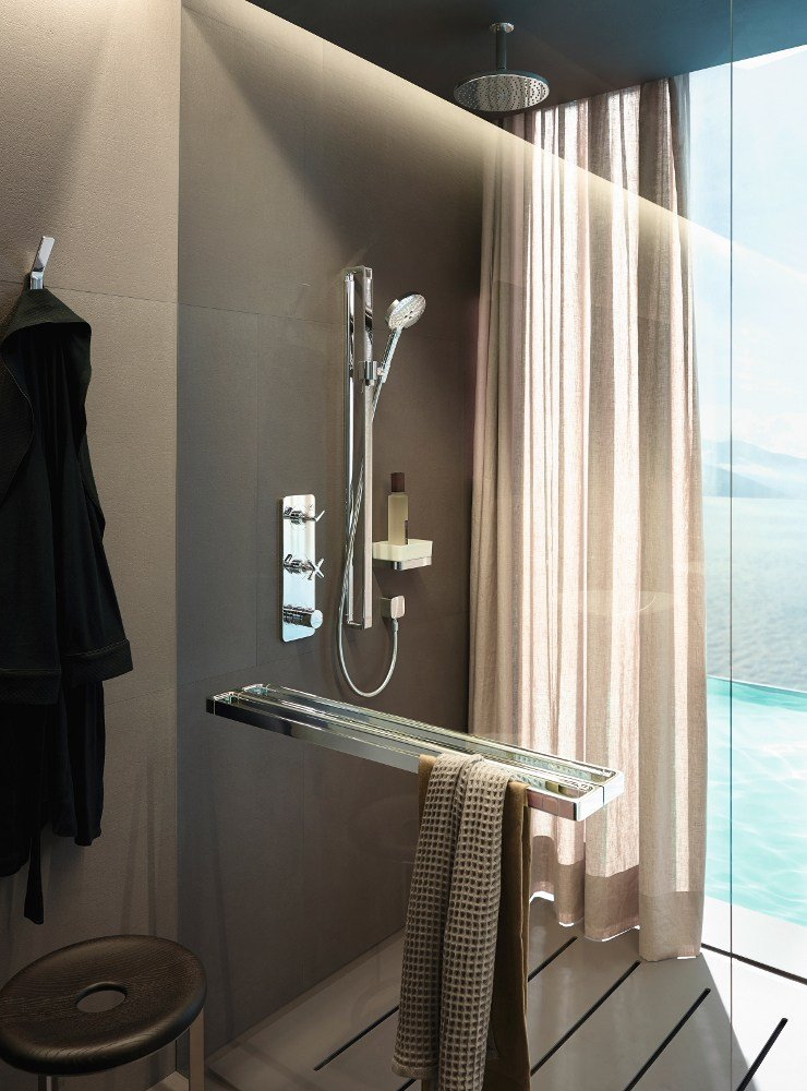 axor citterio e thermostatic shower mixer by hansgrohe design antonio citterio. Black Bedroom Furniture Sets. Home Design Ideas