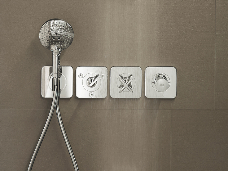 axor citterio e shower mixer with hand shower by hansgrohe design antonio citterio