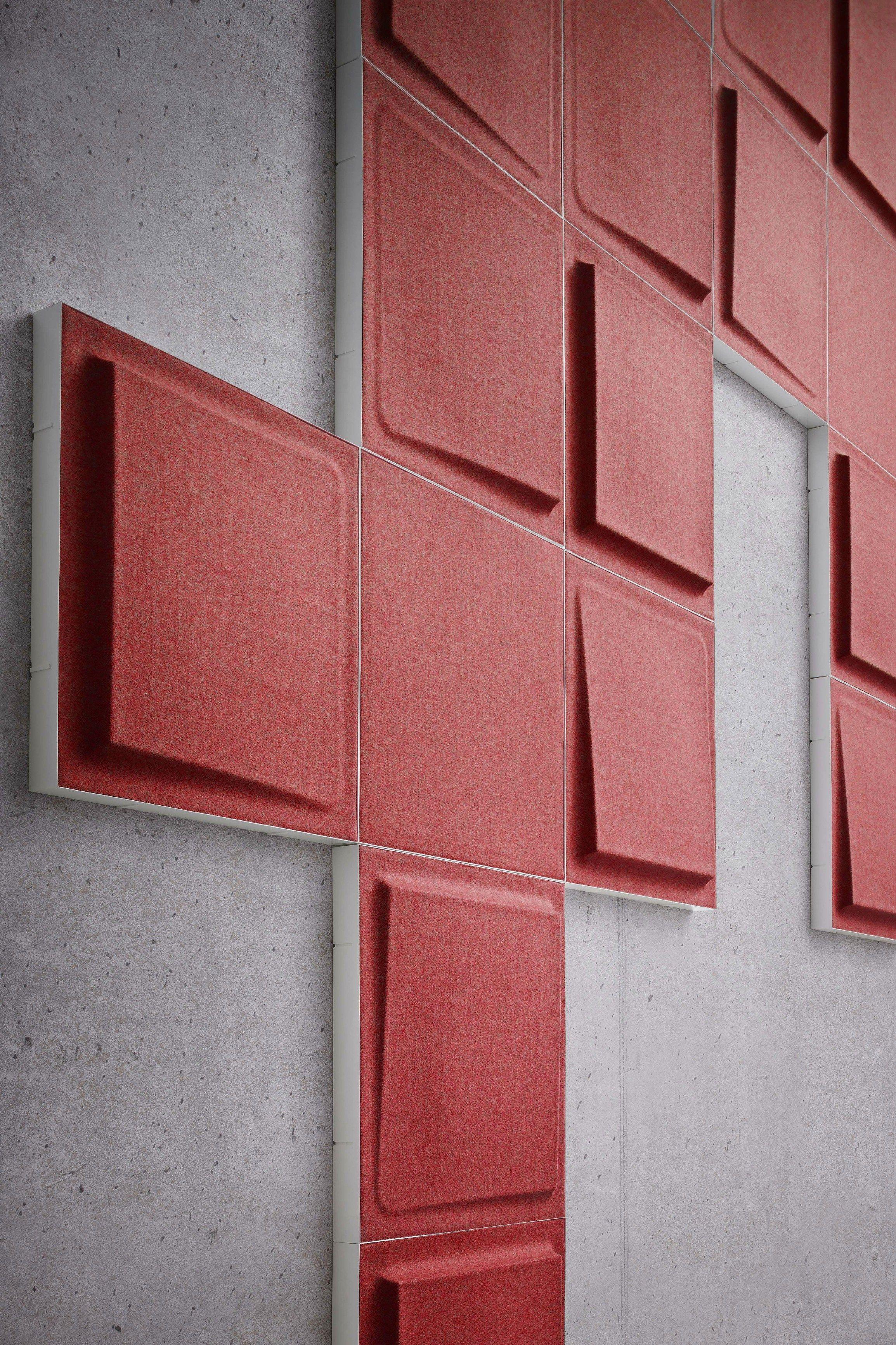 Pannelli decorativi acustici fono by gaber design marc sadler - Pannelli decorativi 3d ...