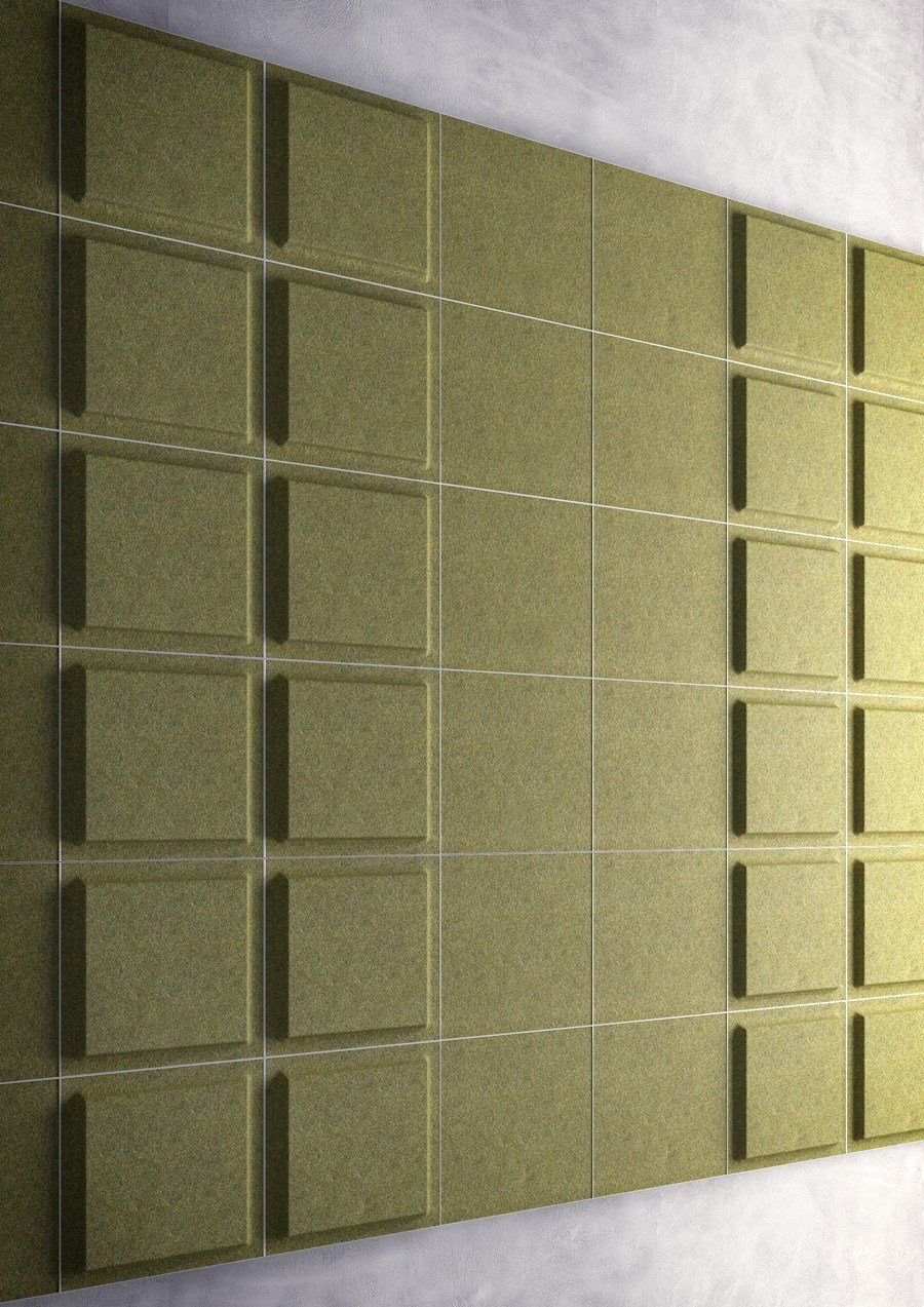 Decorative acoustical panel fono by gaber design marc sadler - Decorative acoustic wall panels ...