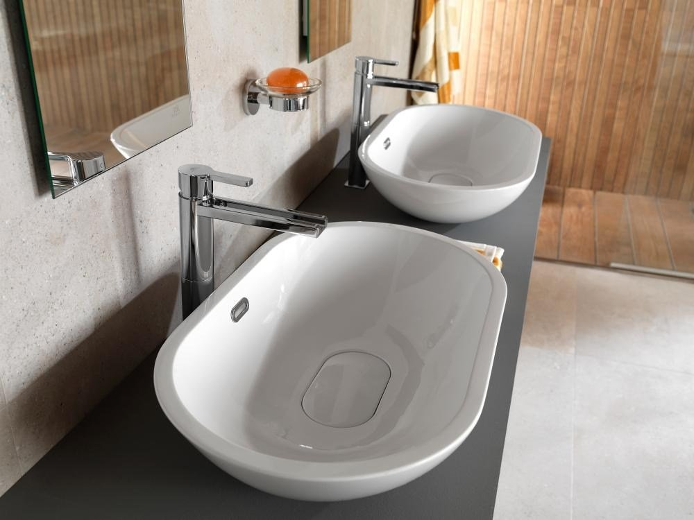 countertop oval washbasin with overflow forma collection by noken design. Black Bedroom Furniture Sets. Home Design Ideas