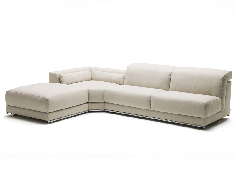 Recliner sofa bed with chaise longue joe by milano bedding for Chaise longue double sofa bed