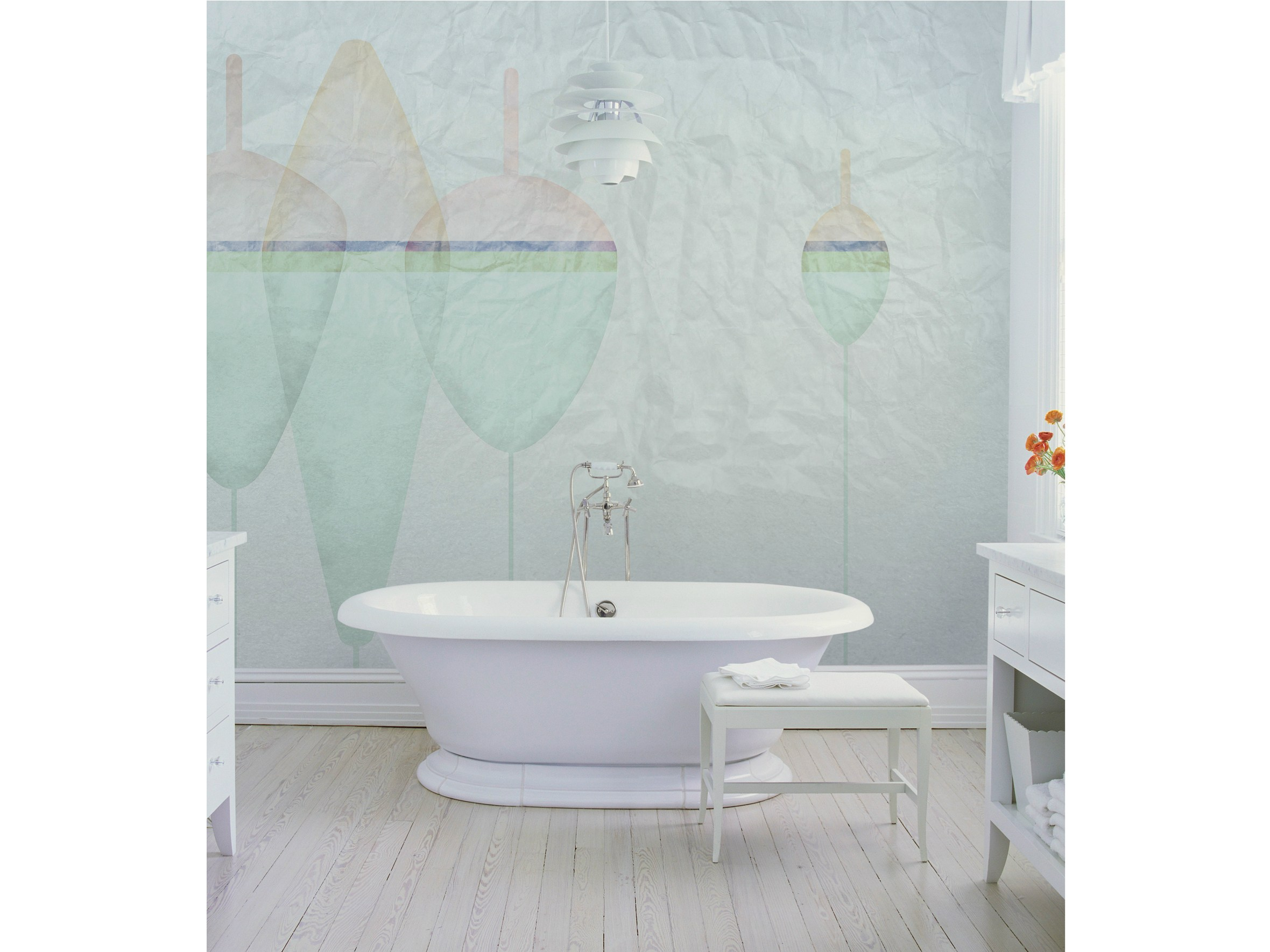 Carta da parati per bagno floating wall dec - Carta da parati bagno ...
