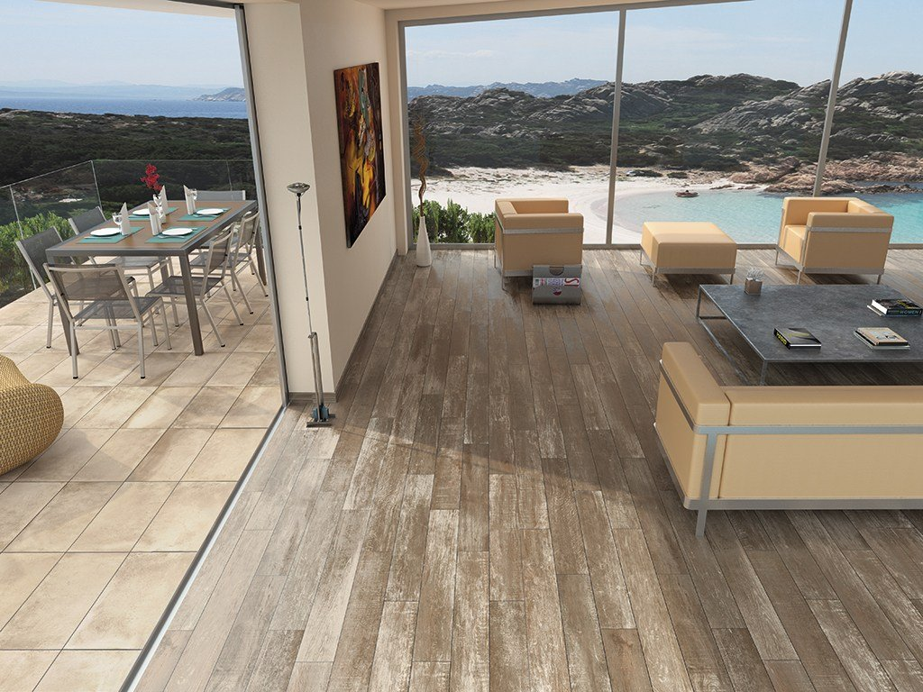 Antislip flooring with wood effect AMARCORD  Flooring with wood