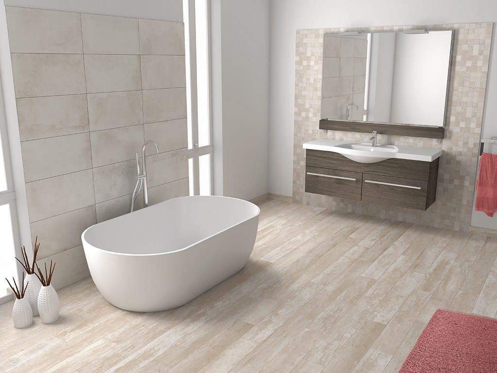 Amarcord pavimento effetto legno by ceramica rondine - Gres para banos ...