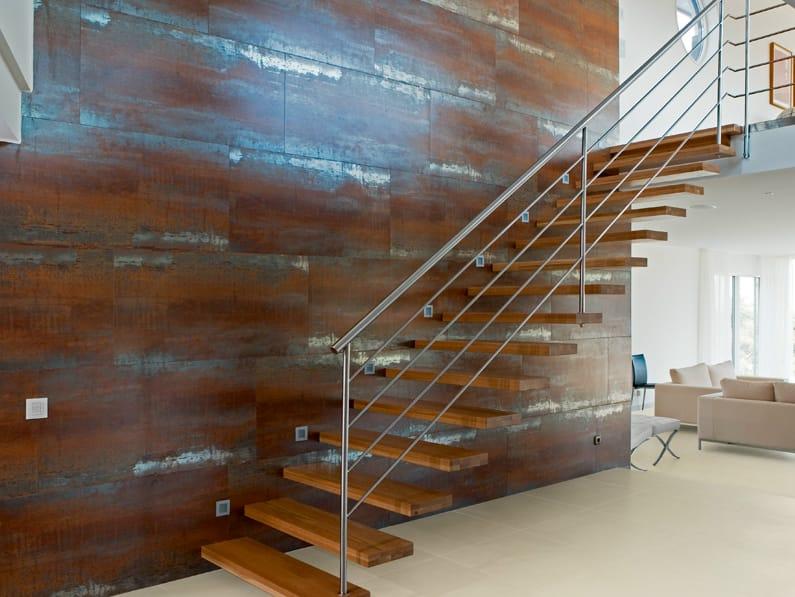 Wand und Bodenbelag mit MetallEffekt LIGHT  LIGHT FLOOR METALLIC by