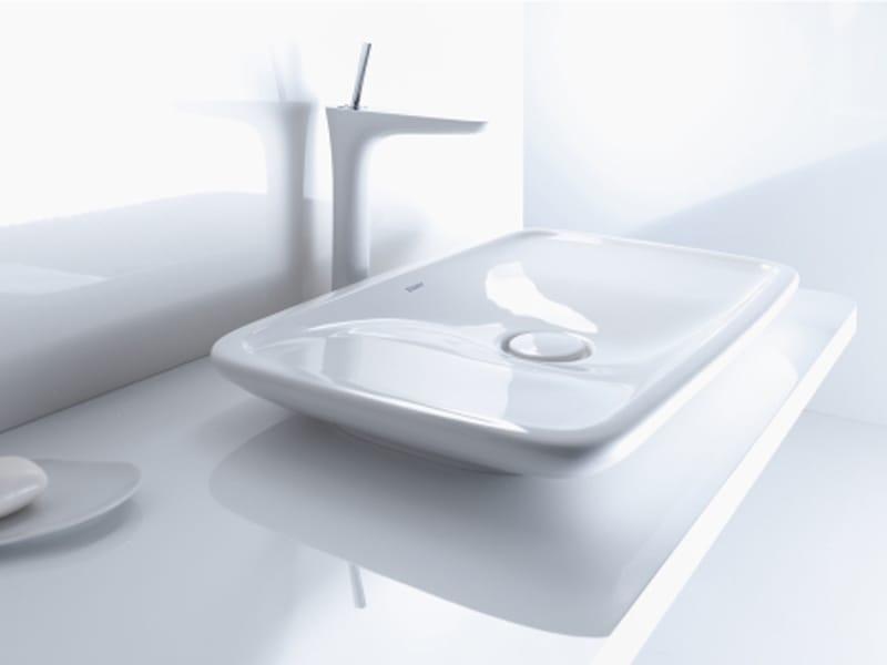 Puravida vasque poser by duravit design phoenix design - Vasque a poser duravit ...