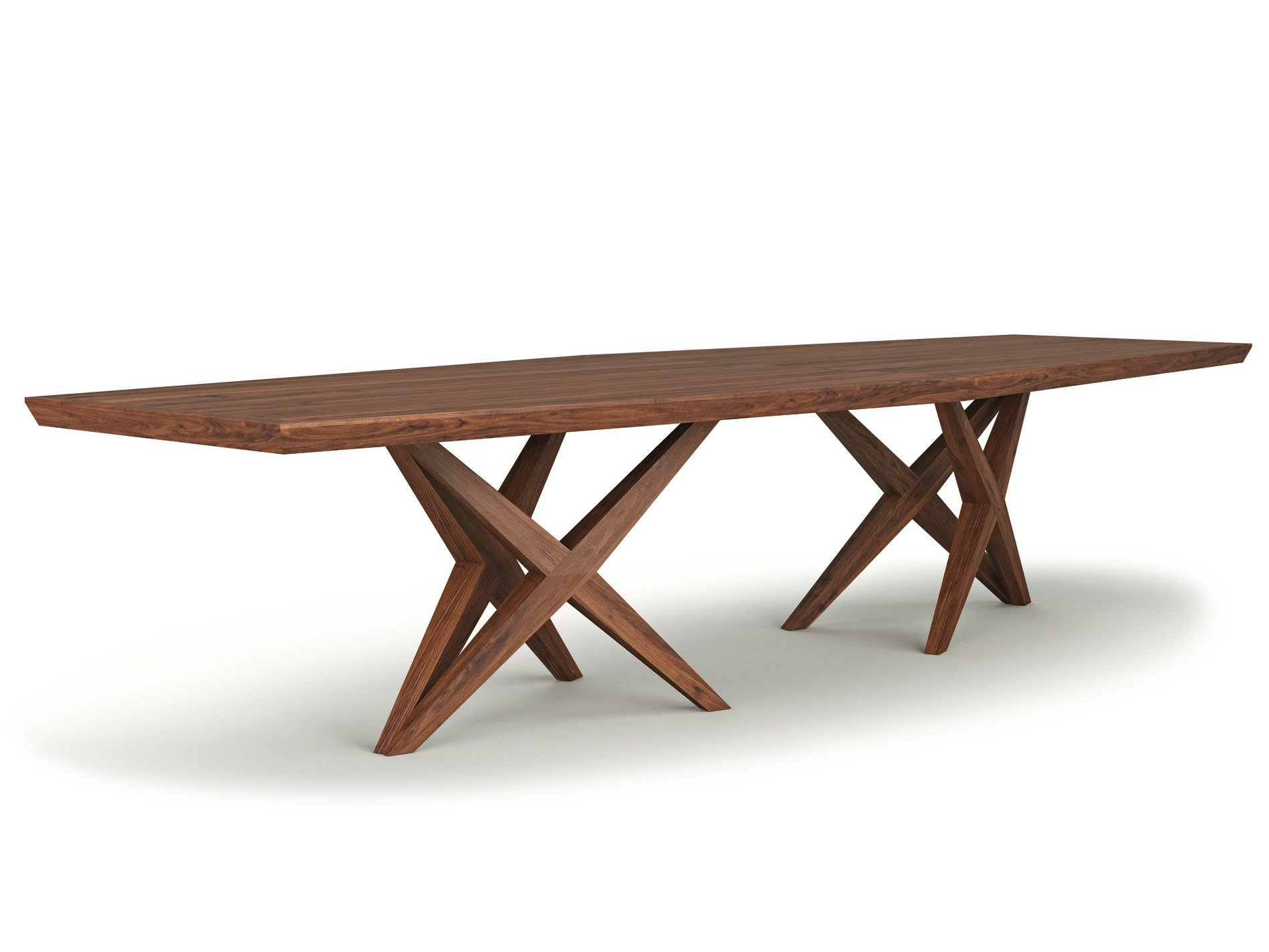 rectangular solid wood table vitox by belfakto