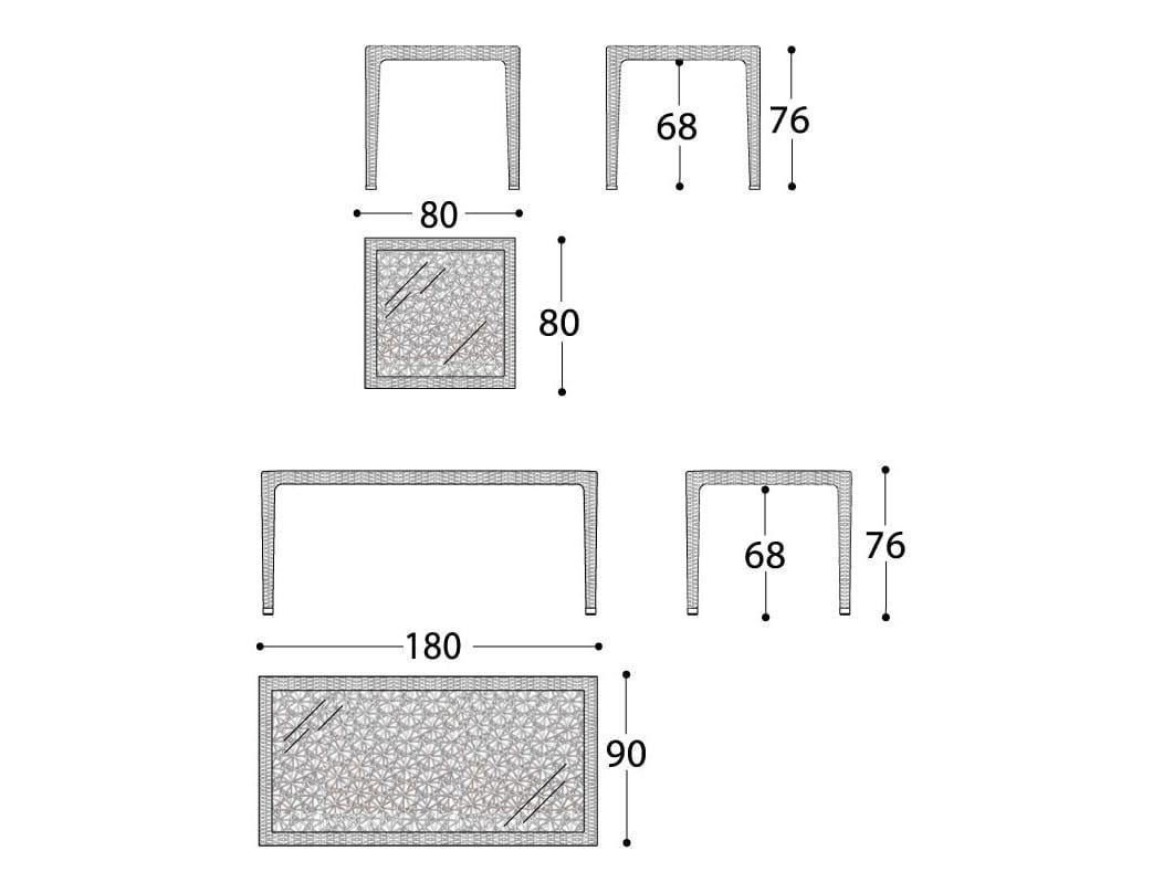 桌子平面矢量图