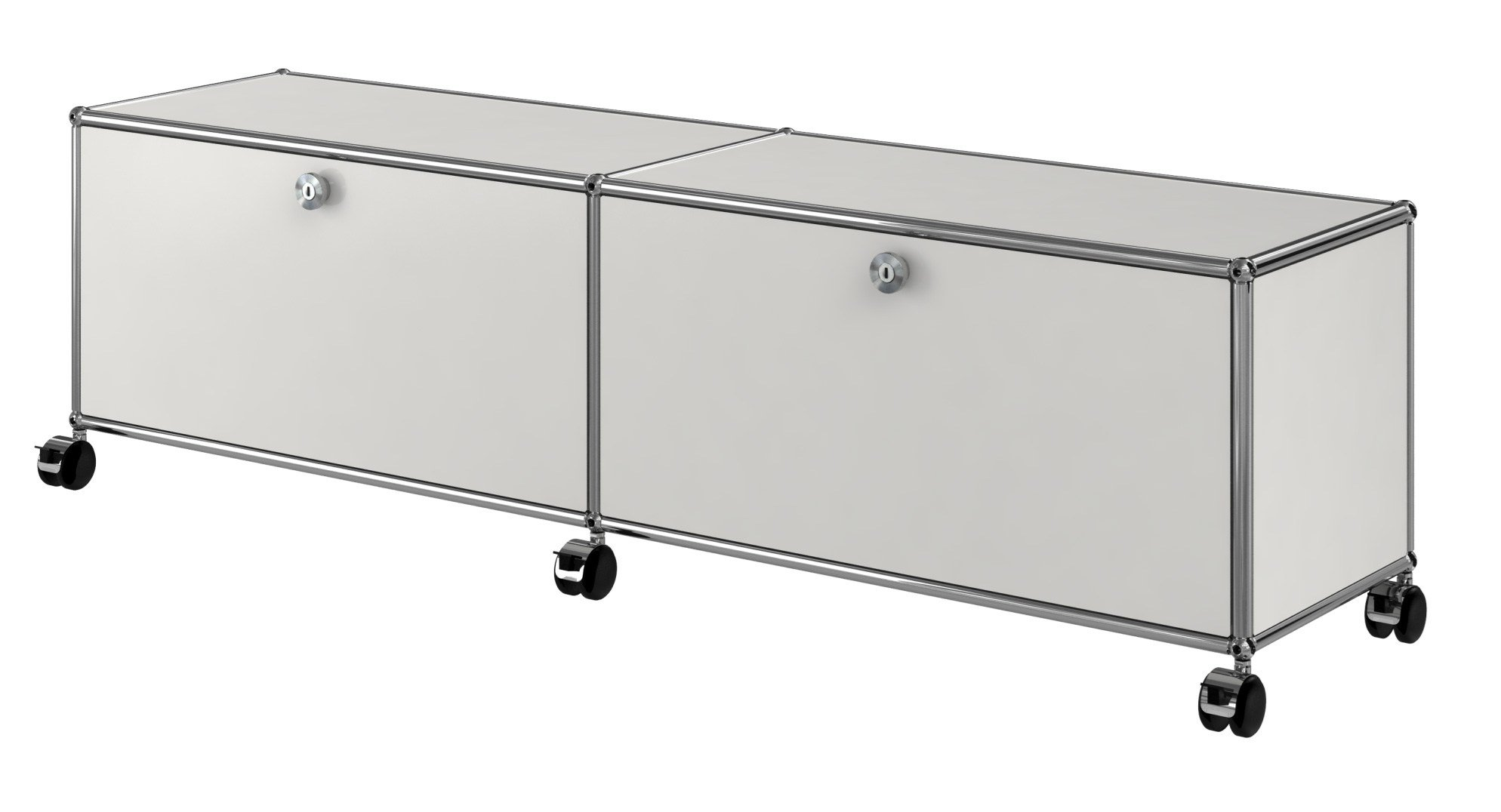 usm haller entertainment unit metal tv cabinet by usm. Black Bedroom Furniture Sets. Home Design Ideas