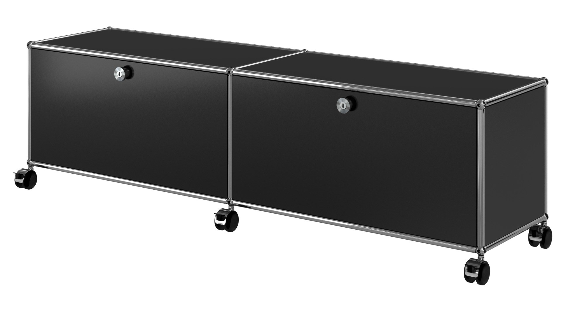 USM HALLER ENTERTAINMENT UNIT TV Möbel aus Metall by USM Modular