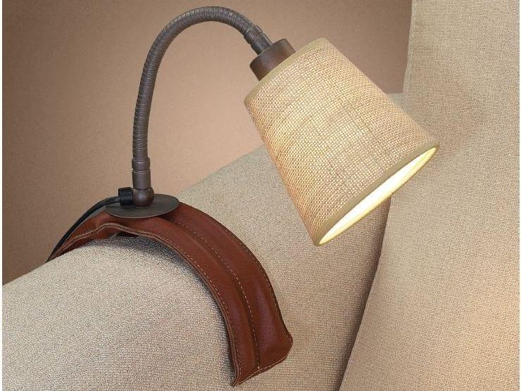lampada da tavolo a led fluorescente in tessuto con. Black Bedroom Furniture Sets. Home Design Ideas