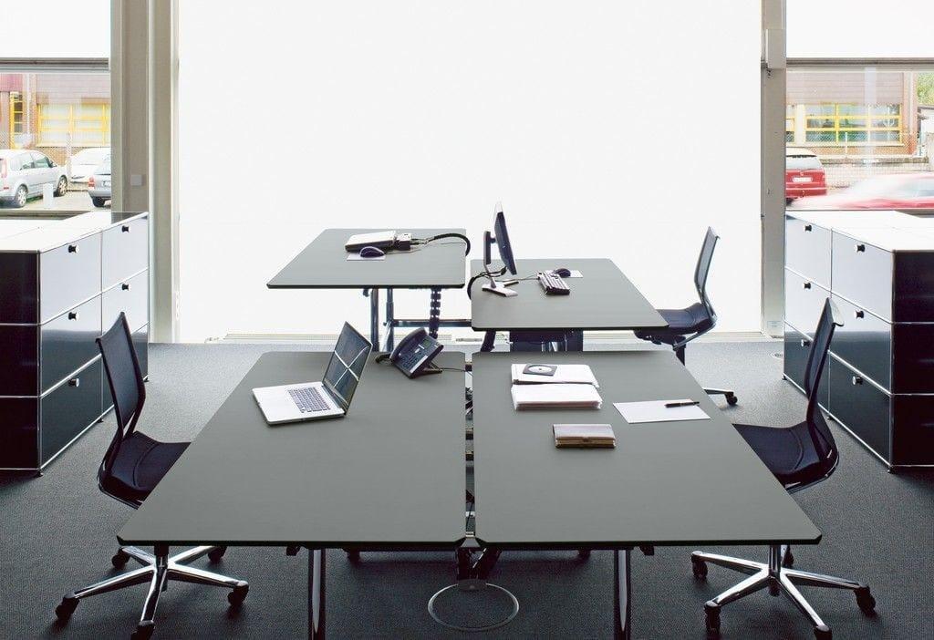 USM HALLER HOME OFFICE TABLE Height adjustable writing desk By USM