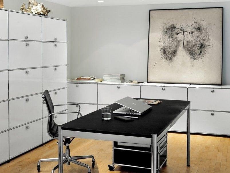 usm haller storage for home office office shelving by usm. Black Bedroom Furniture Sets. Home Design Ideas