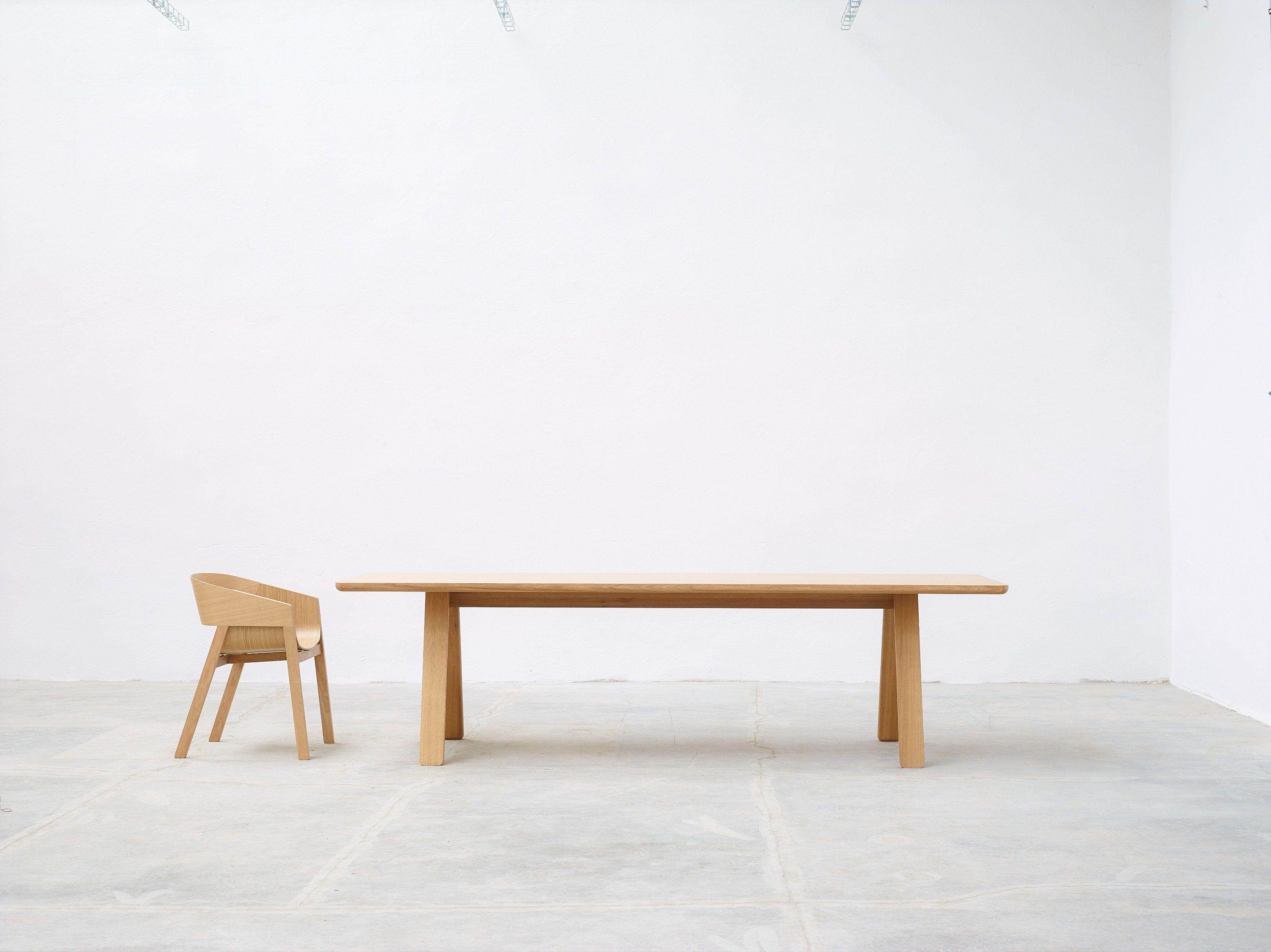 Rectangular Solid Wood Table Stelvio By Ton Design