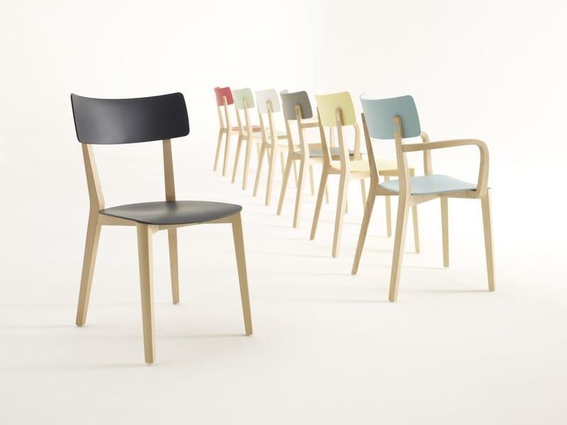 DUE Wooden Chair By Brunner Design Wolfgang CR Mezger
