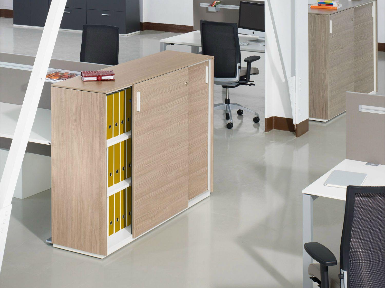 Armário de escritório de madeira com portas de correr ACTA PLUS by  #B68910 1500x1125