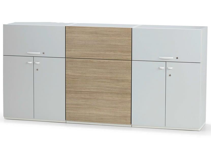 Mobile ufficio con ante a battente con serratura acta plus for Mobile ufficio con serratura