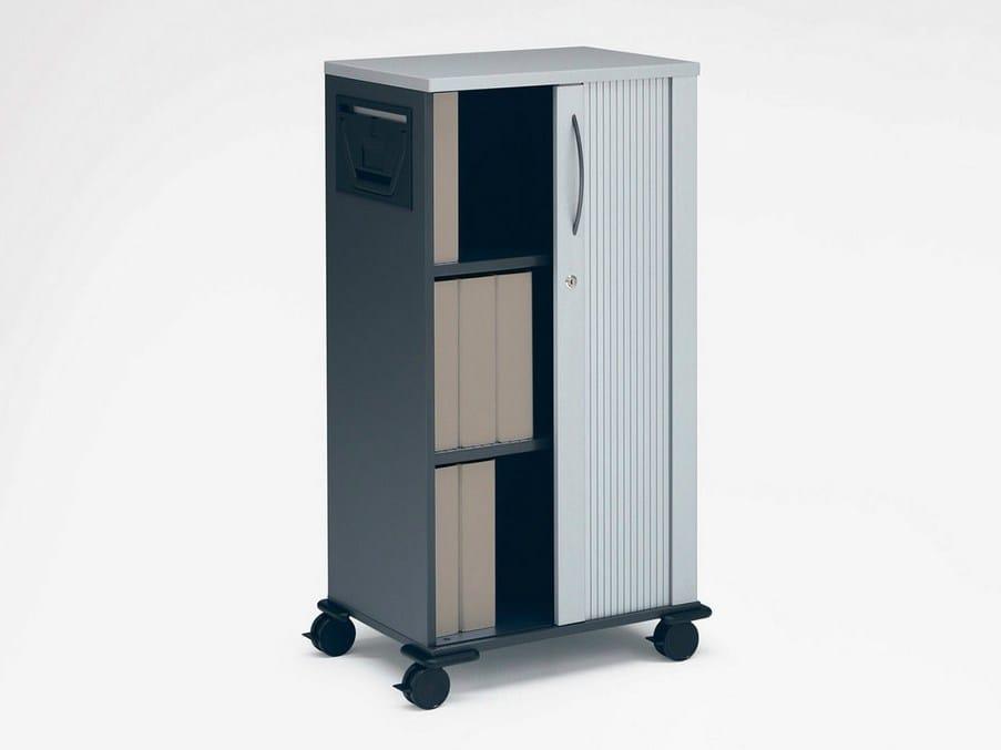 b roschrank mit schiebet ren mit rollen eco s mobil kollektion beistellm bel by k nig neurath. Black Bedroom Furniture Sets. Home Design Ideas