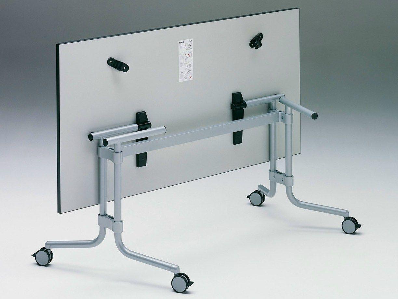 Mesa de reuni n plegable con ruedas memo s by k nig neurath - Ruedas para mesa ...