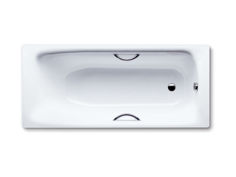 Vasca da bagno rettangolare in acciaio smaltato da incasso sanilux star by kaldewei italia - Vasca da bagno in acciaio ...