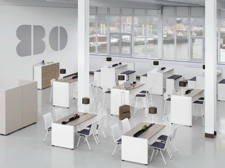 net work place office workstation by k nig neurath. Black Bedroom Furniture Sets. Home Design Ideas
