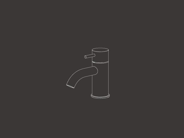 Einloch Kalt Wasserhahn mit beweglichen Auslauf MIL 108 by  ~ Wasserhahn Cad