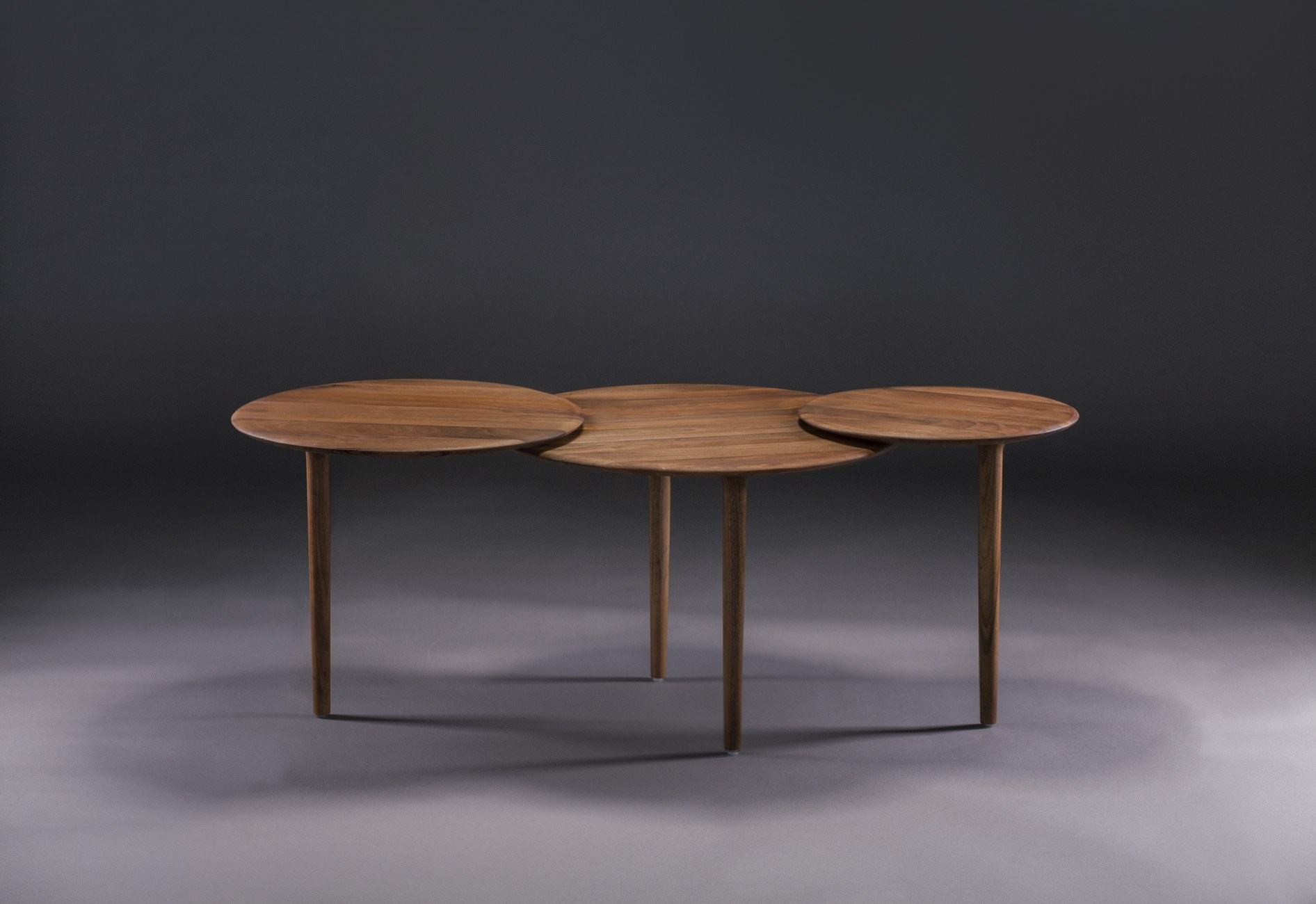 Wooden Coffee Table Triple By Artisan Design Rudjer Novak Mikulic Marija Ruzic