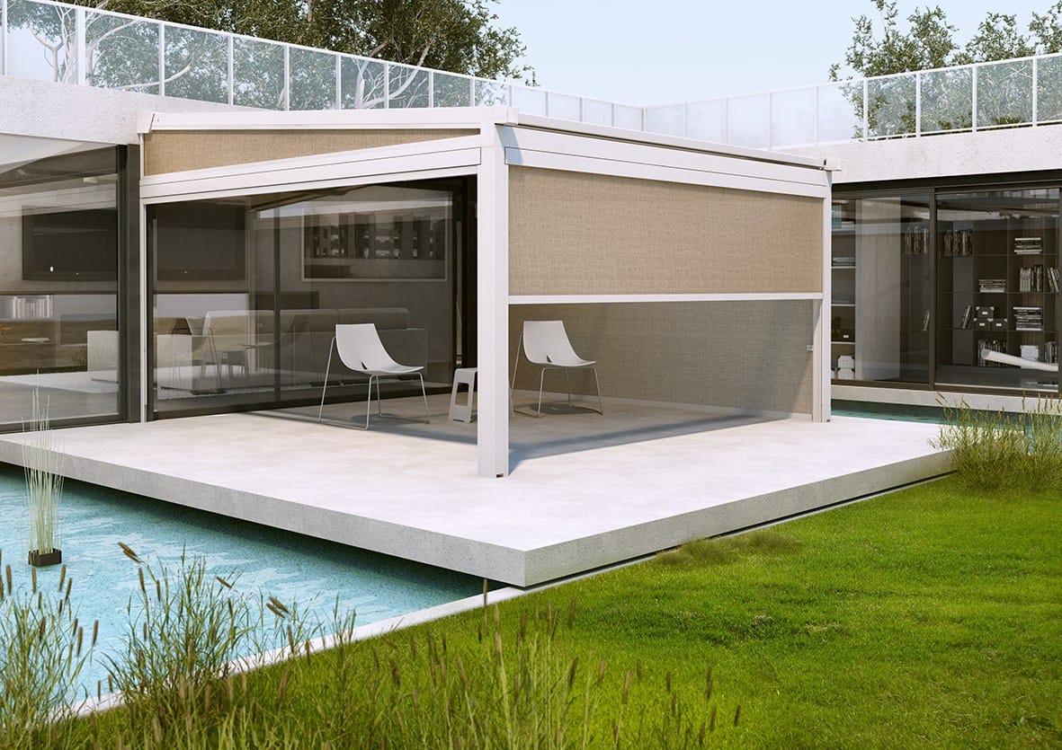pergola avec couverture coulissante xtesa by ke outdoor design. Black Bedroom Furniture Sets. Home Design Ideas