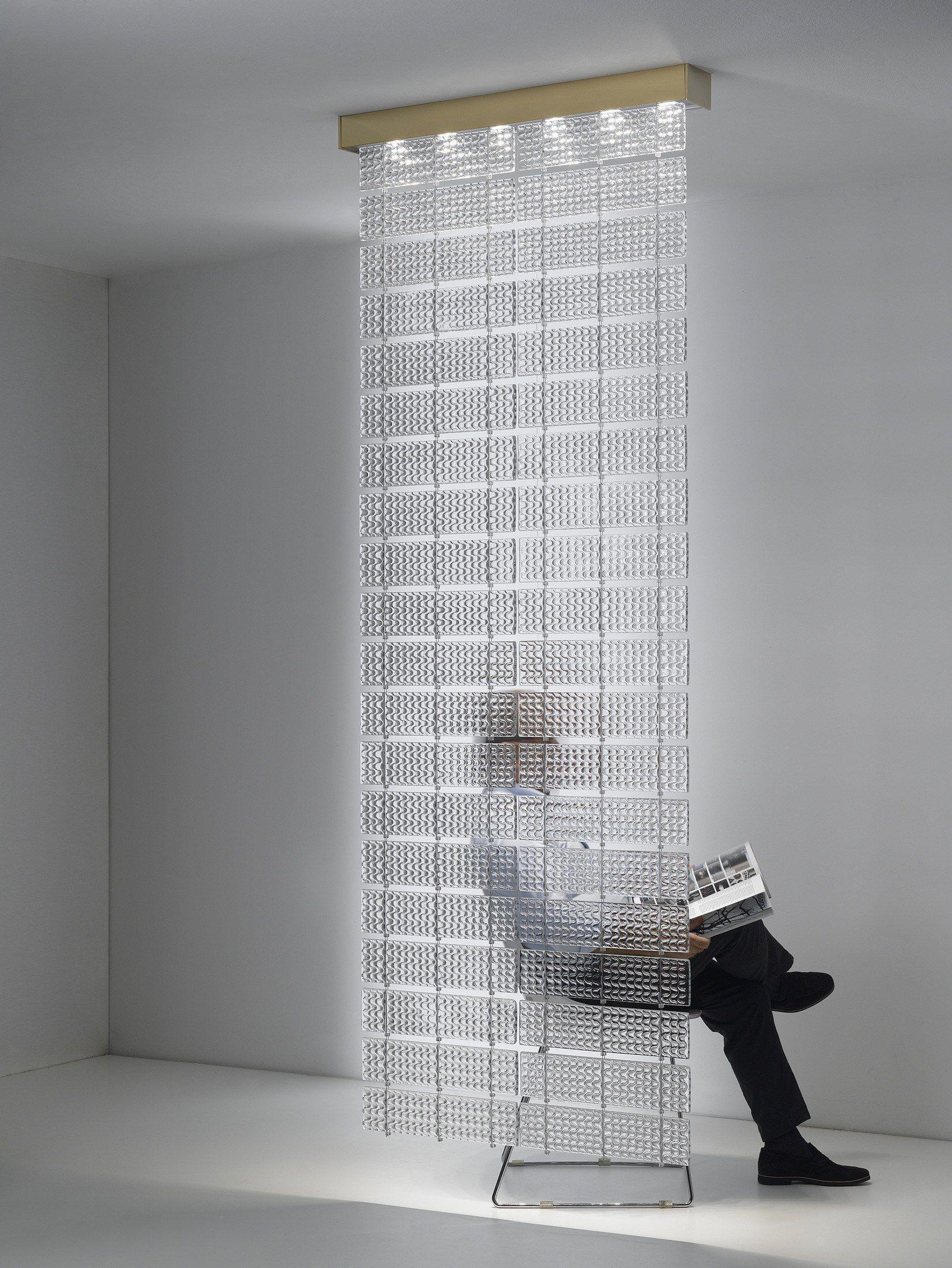 raumteiler aus glas laminis by fabbian design fe design. Black Bedroom Furniture Sets. Home Design Ideas