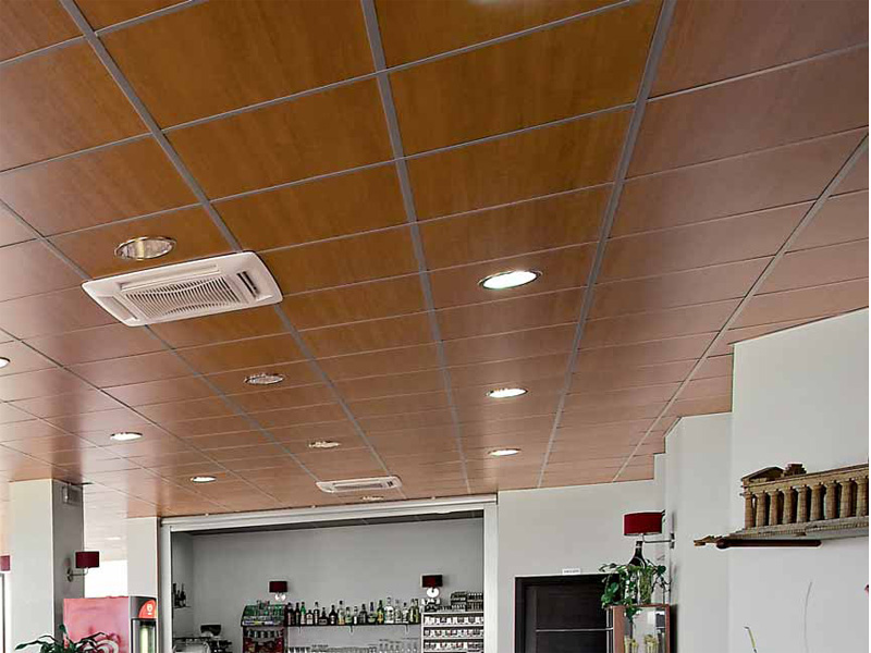 Acoustic Mdf Ceiling Tiles Wood Shade Lay On By Itp