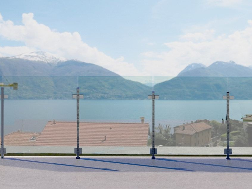 Garde corps en aluminium et verre pour terrasse balcon - Paravent exterieur pour terrasse ...