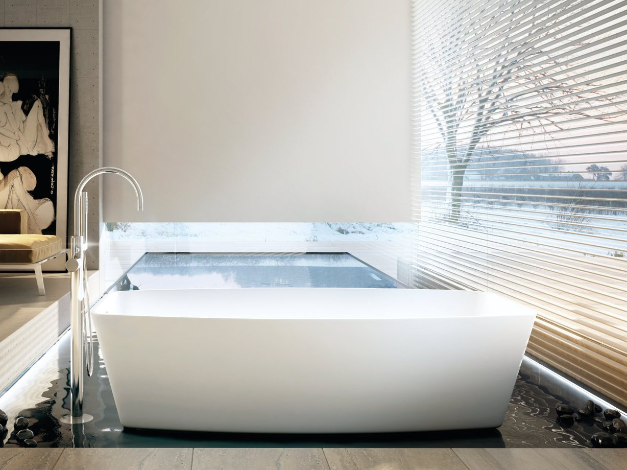 baignoire en corian one tube by moma design by archiplast. Black Bedroom Furniture Sets. Home Design Ideas