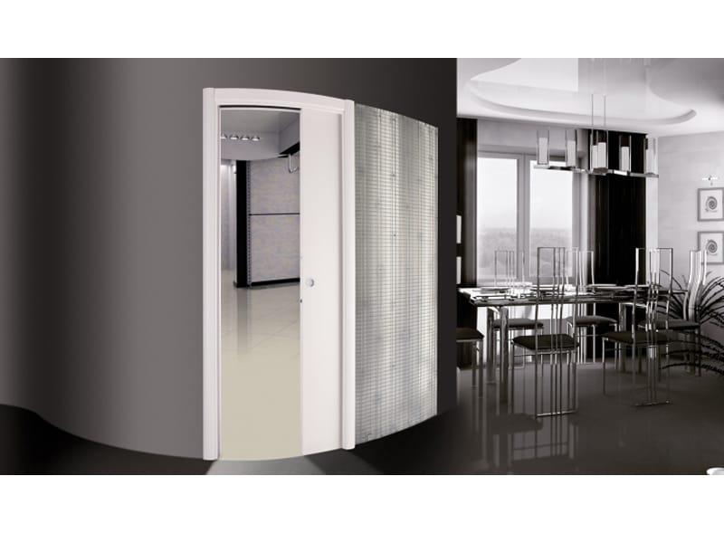 contre ch ssis pour portes coulissantes incurv es orbitale. Black Bedroom Furniture Sets. Home Design Ideas
