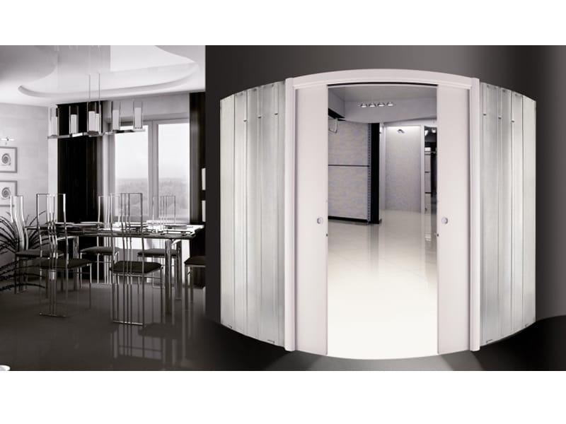 Contre ch ssis pour portes coulissantes incurv es orbitale for Porte coulissante arrondie