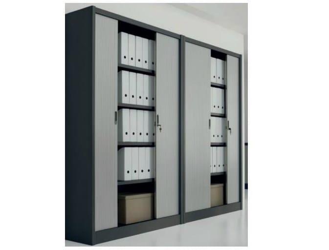 Mueble de oficina con puertas de persianas by - Persianas para armarios ...