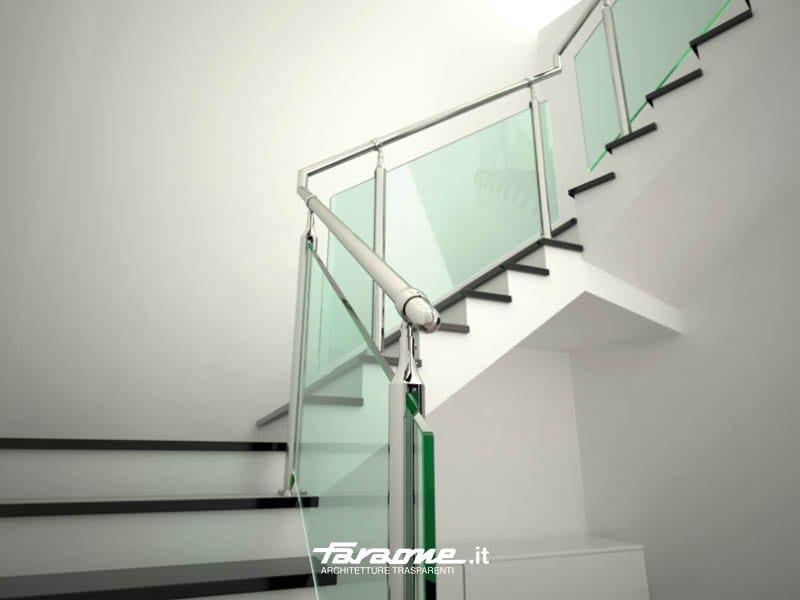 gel nder aus edelstahl und glas atena by faraone design matteo paolini. Black Bedroom Furniture Sets. Home Design Ideas