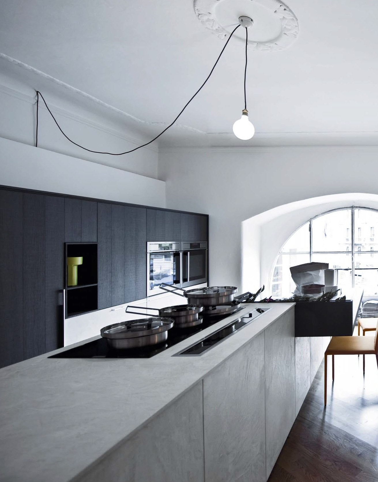 Cucina con isola senza maniglie kalea composizione 9 by - Cucina senza maniglie ...