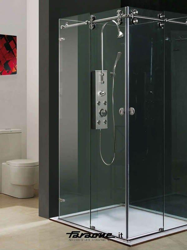 Kit pour cabines de douche en m tal by faraone for Porte douche plexiglas