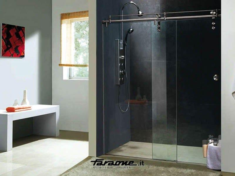 Cabinas De Baño En Vidrio:Cabina de ducha de vidrio con puertas correderas SLIDE BOX by FARAONE