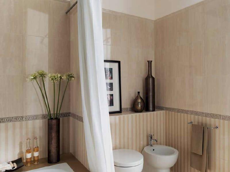 bagno con mosaico marrone canlic for ., Disegni interni