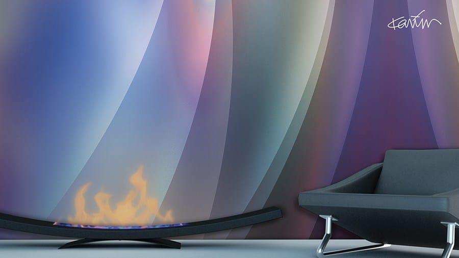 optical tapete aus vinyl miasma by glamora design karim rashid. Black Bedroom Furniture Sets. Home Design Ideas