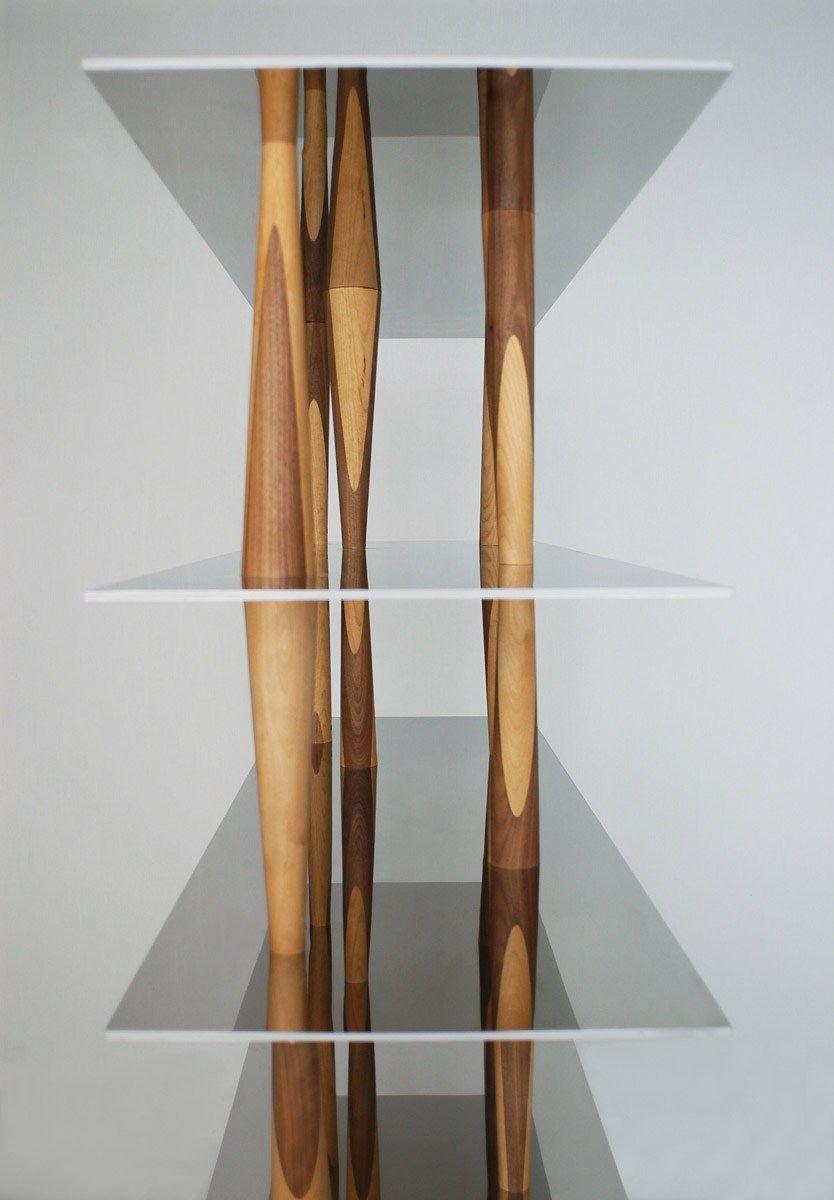 Aluminium and wood bookcase SENDAI by HORM.IT