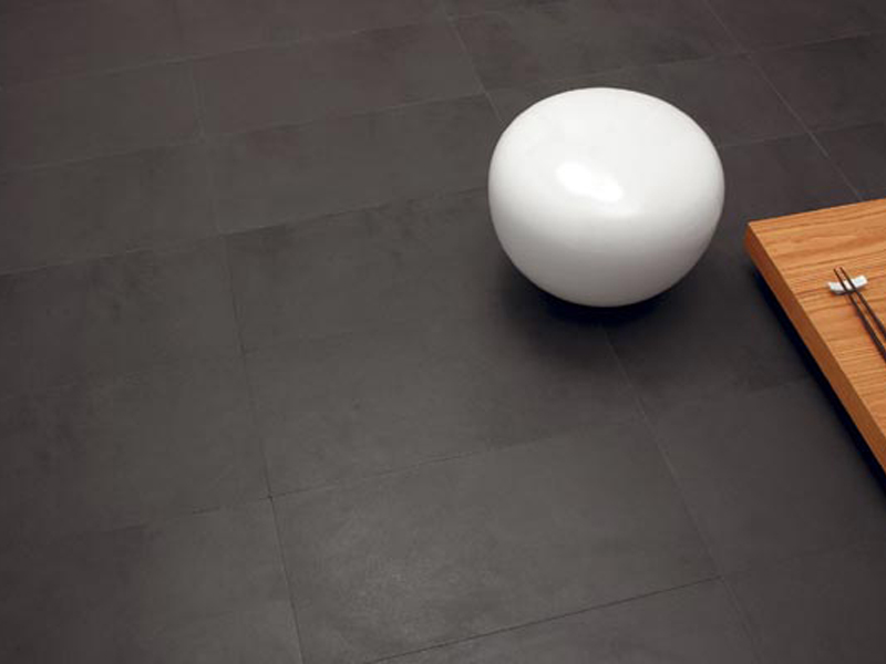 Ultra thin porcelain stoneware wall floor tiles anthracite for Joint de dilatation carrelage exterieur