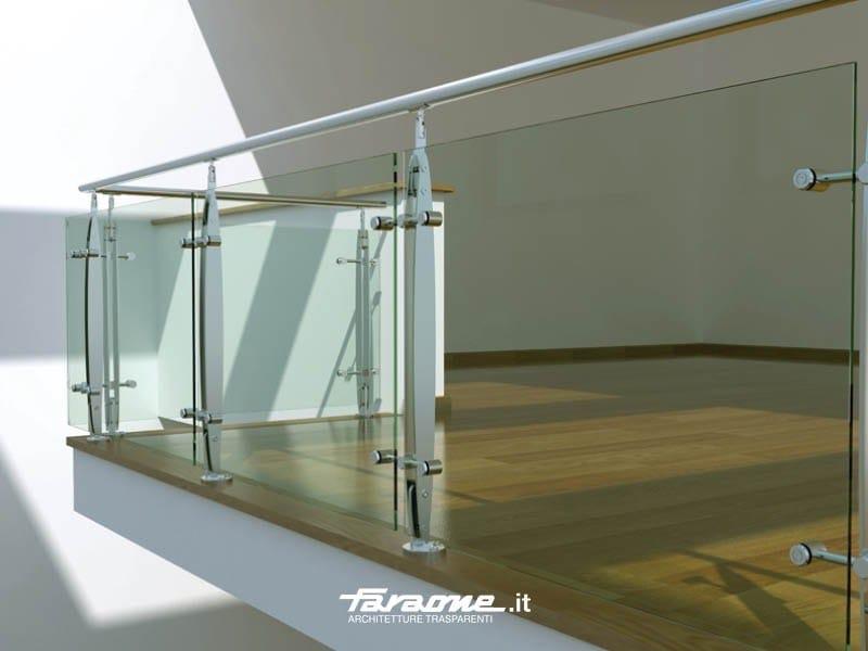Baranda de escalera de acero inoxidable y vidrio elisir by for Barandas de vidrio y acero